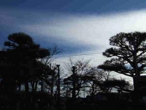不思議な那須の雲