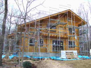 MA邸、軒天井や飾り板も付きました。(1月31日)