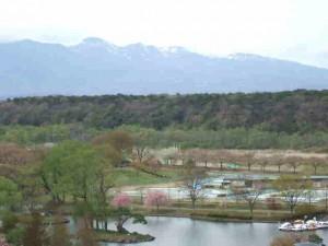 黒磯公園からの茶臼岳遠望