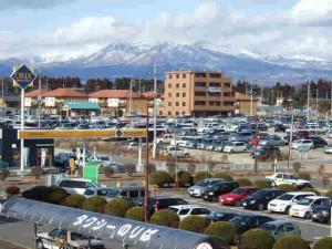 那須塩原駅から那須岳遠望