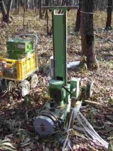 本日の地質調査はこの機械で行いました。