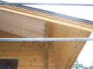 南側の軒裏天井板