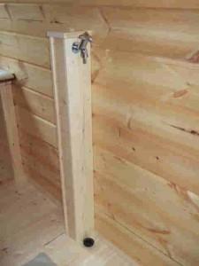 施主支給の洗面台に扉を、洗濯用配管カバーも作ってもらいました