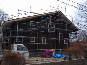 延べ床面積55坪のS邸:西側から(2012年4月4日撮影)