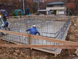 ベースコンクリート打設