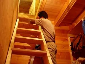 ロフト用階段制作